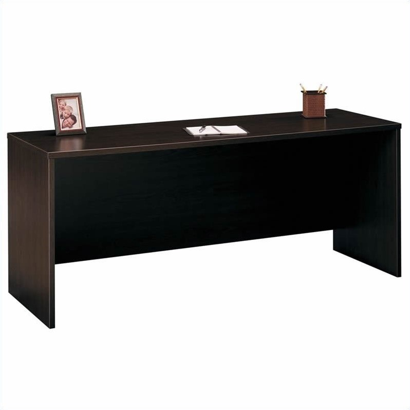 Bush BBF Series C Standard Wood Desk Suite in Mocha Cherry