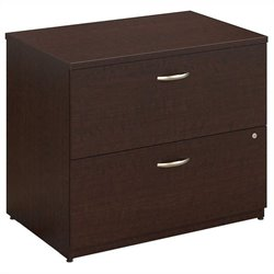 Bush BBF Series C 36W 2Dwr Lateral File in Mocha Cherry