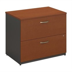 Bush Business Furniture Series C 36W 2Dwr Lateral File in Auburn Maple
