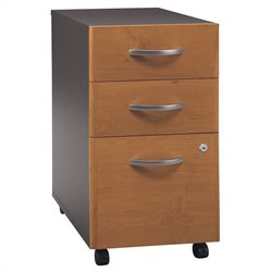 Bush Business Furniture Series C 3Dwr Mobile Pedestal Natural Cherry
