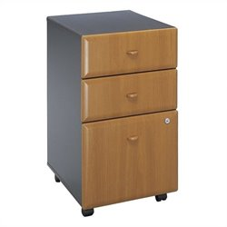 Bush Business Furniture Series A 3Dwr Mobile Pedestal Natural Cherry