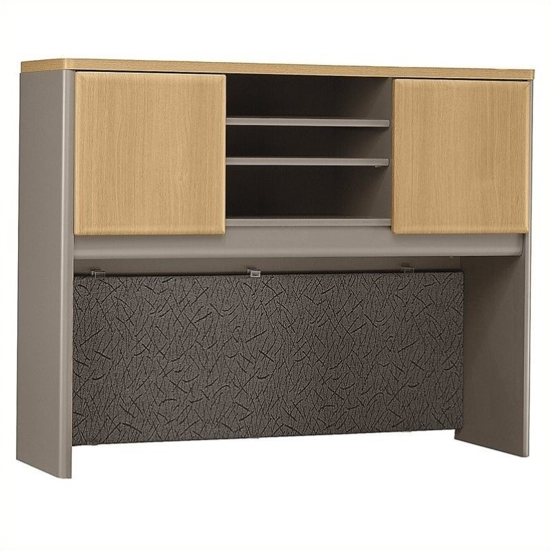 Bush Business Series A 48W Hutch in Light Oak