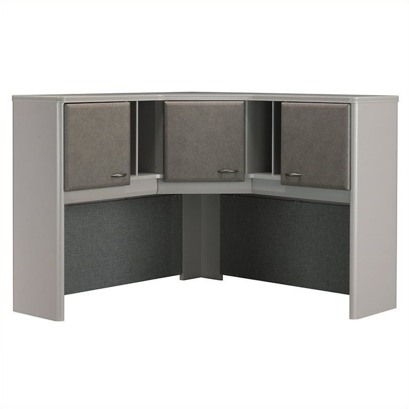 Bush Business Furniture Series A 48W Corner Hutch in Pewter