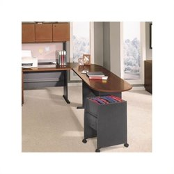 Bush BBF Series A Hansen Cherry Left L-Shaped Desk with Peninsula