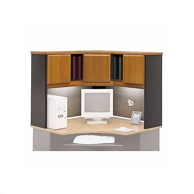 Bush Business Series A 6-Piece Corner Workstation in Natural Cherry