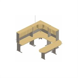Bush BBF Series A 8-Piece U-Shape Corner Peninsula Desk Set