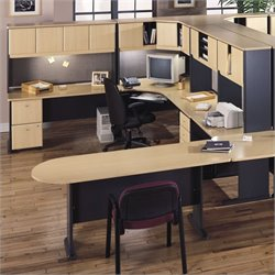 Bush Business Series A U-Shape Office Suite in Beech and Grey