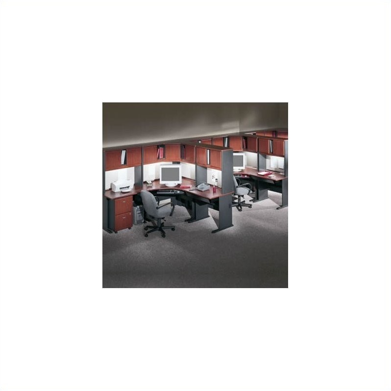 Bush BBF Series A Hansen Cherry Corner Computer Office Suite