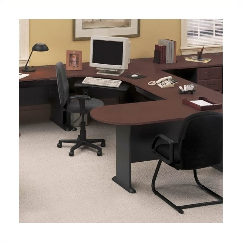Bush BBF Series A Hansen Cherry U-Shape Office Suite