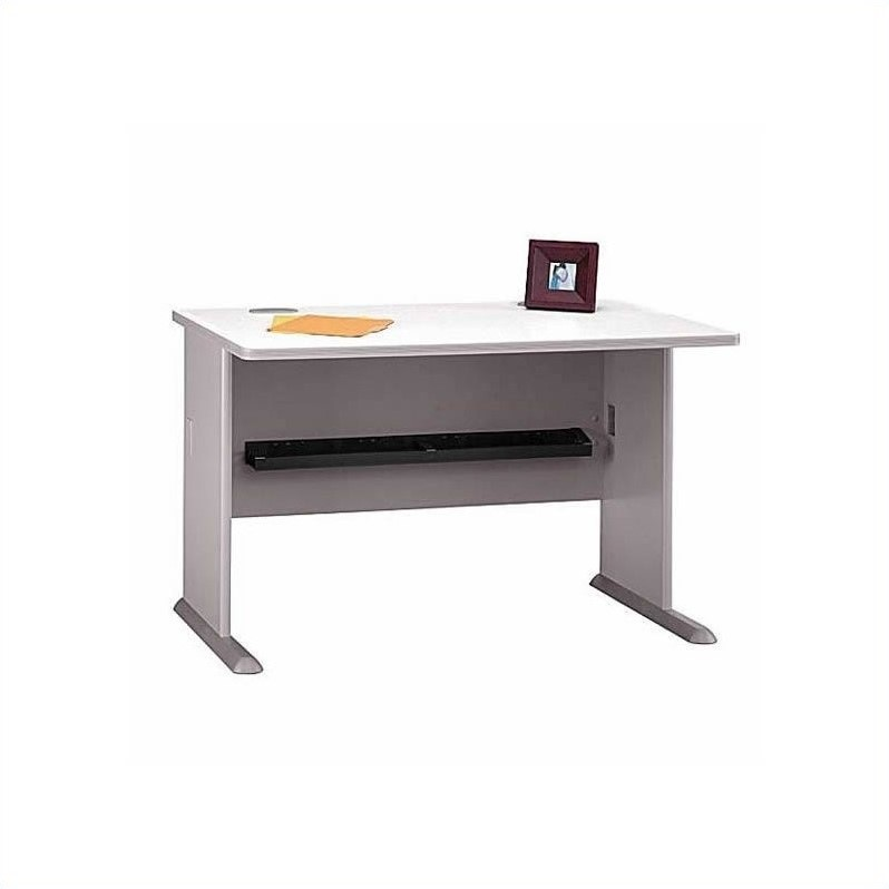 Bush BBF Series A 4-Piece Corner Desk in Pewter