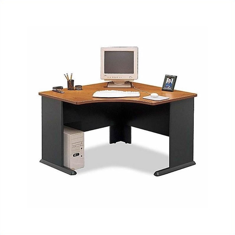 Bush BBF Series A 9-Piece U-Shape 2-Person Workstation in Natural Cherry