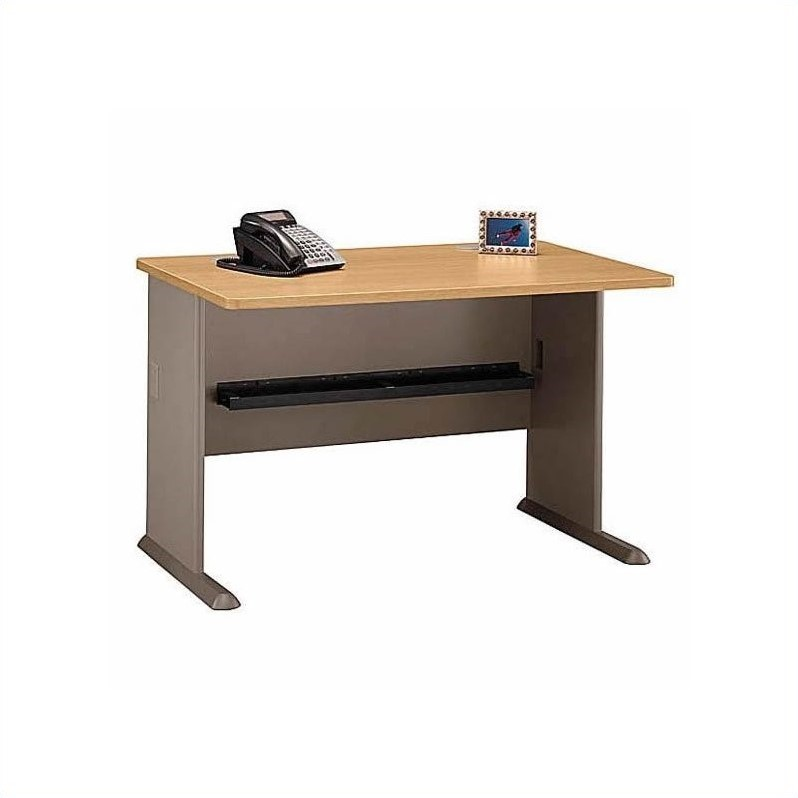 Bush BBF Series A 9-Piece Corner Workstation in Light Oak