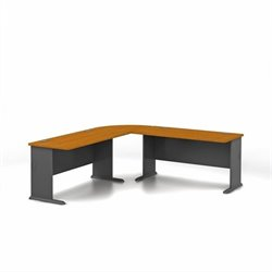 Bush BBF Series A Natural Cherry L-Shaped Administrative Configuration