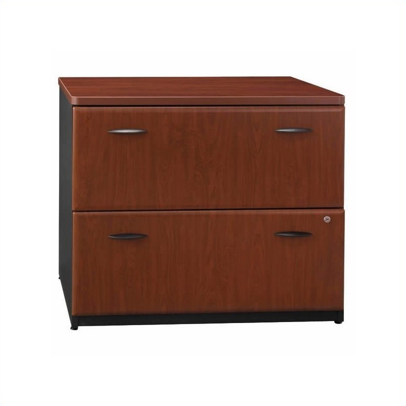 Bush BBF Series A Corner U-Shaped Desk in Hansen Cherry