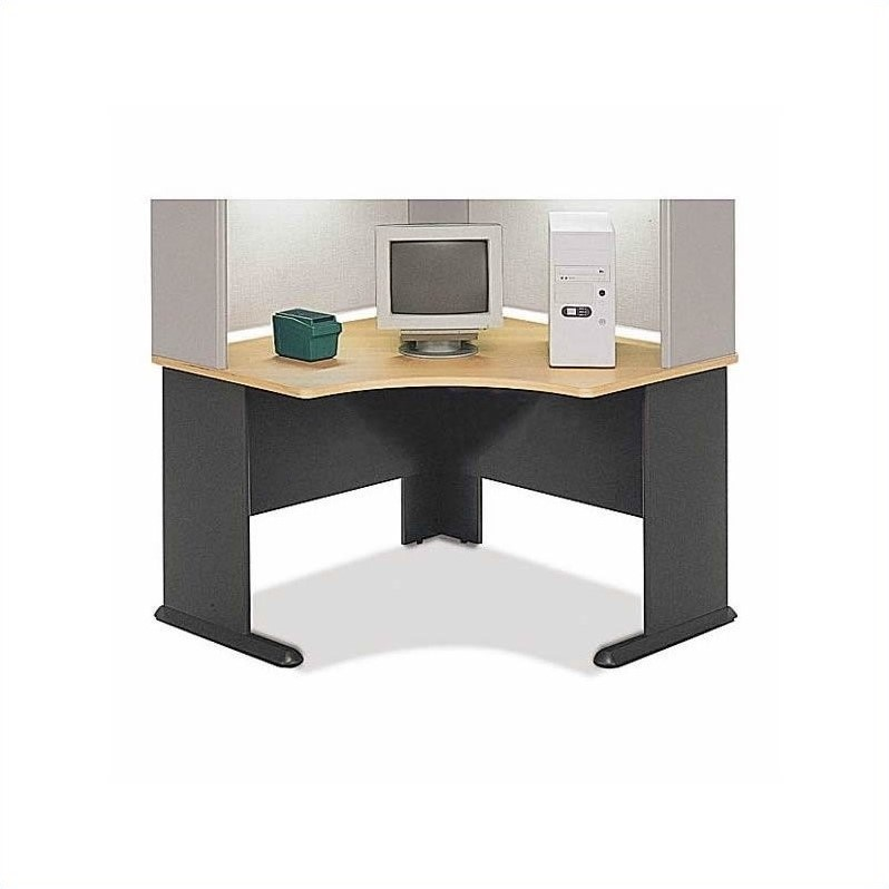 Bush Business Series A 12-Piece Four Corner Desk Office Set in Beech