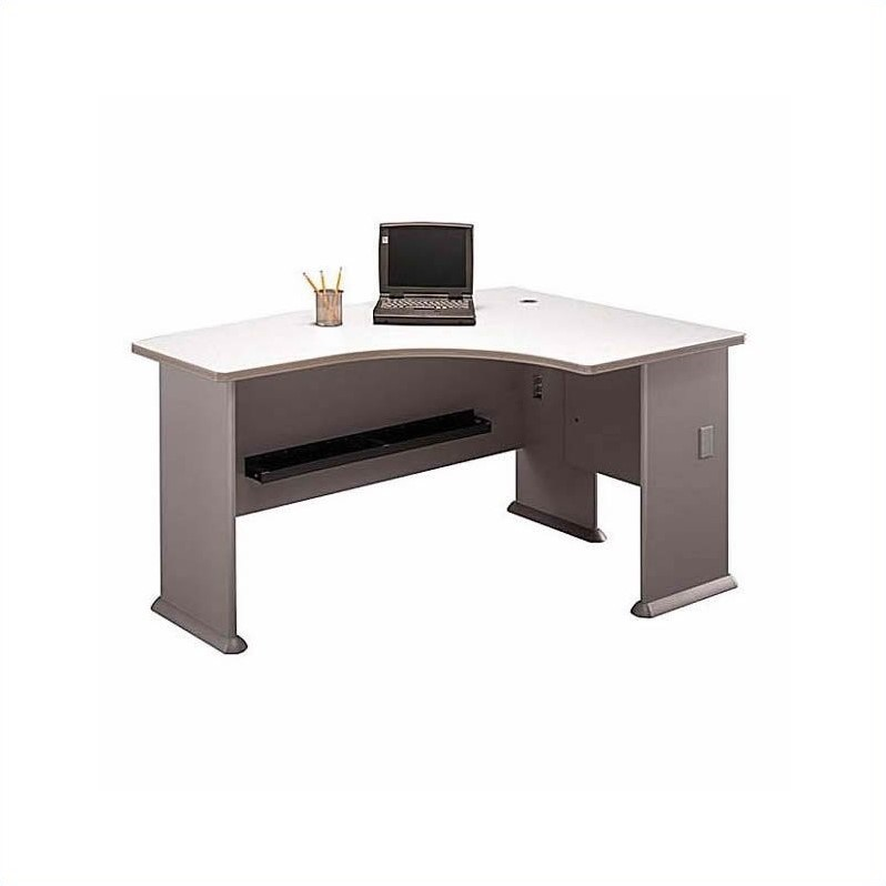 Bush BBF Series A 4-Piece U-Shape Right-Hand Corner Desk Set in Pewter