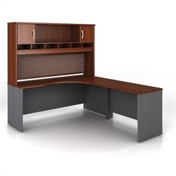 Bush BBF Series C 3-Piece Right-Hand L-Shaped Computer Desk in Hansen Cherry