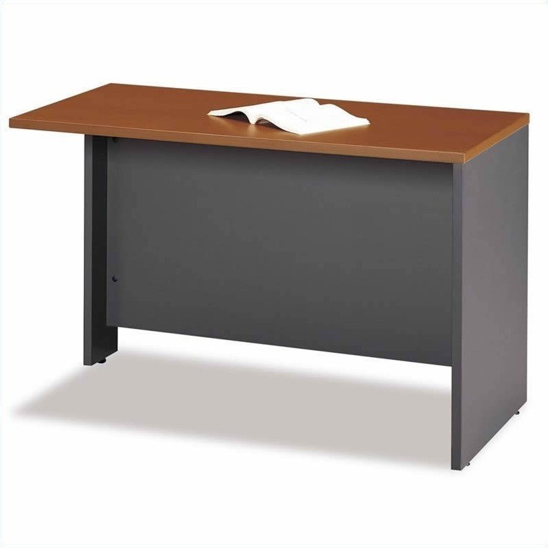 Bush Business Series C L-Shaped Desk with Hutch in Auburn Maple