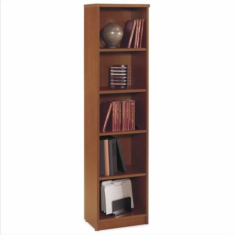 Bush Business Series C Desk with File Cabinet and Bookcase