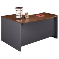 Bush BBF Series C 60W x 43D RH L-Bow Desk Shell in Hansen Cherry