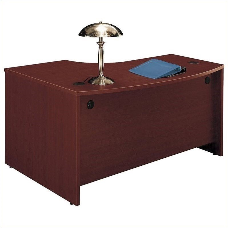 Bush Business Series C 60W x 43D RH L-Bow Desk Shell in Mahogany