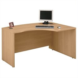 Bush BBF Series C 60W x 43D RH L-Bow Desk Shell in Light Oak