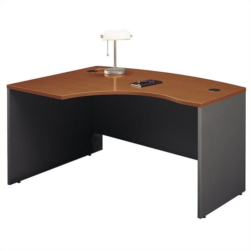 Bush Business Series C 60x43 LH L-Bow Desk in Auburn Maple