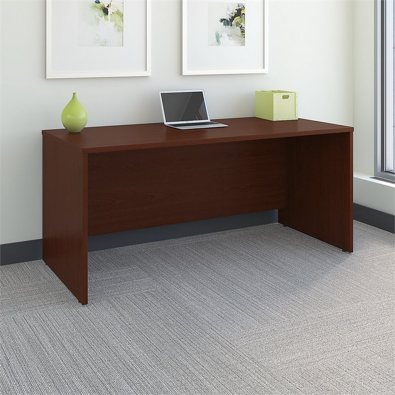 Bush Business Furniture Series C 66W X 30D Office Desk In Mahogany