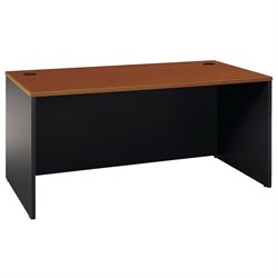 Bush Business Furniture Series C 66W Desk Shell in Auburn Maple
