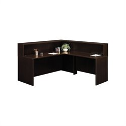 Bush Business Series C L-Shape Reception Desk in Mocha Cherry
