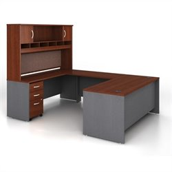 Bush Business Series C 5-Piece U-Shape Computer Desk in Hansen Cherry
