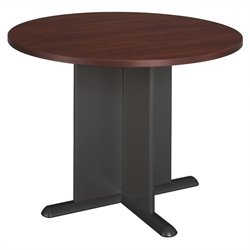 Bush BBF Round 3.4 Conference Table with X-Shaped Base in Hansen Cherry