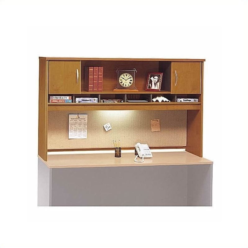 Bush BBF Series C 5-Piece U-Shape Desk with Storage in Natural Cherry