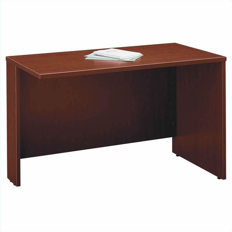 Bush Business Series C 6-Piece U-Shape Desk with Bookcase in Mahogany