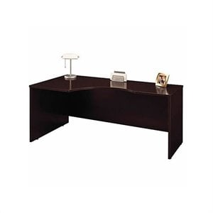 Bush Business Series C Left-Hand Corner Desk and Bow-Front Desk