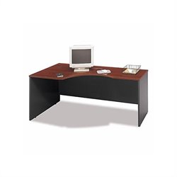 Bush BBF Series C Bow Front Left Corner Desk Set in Hansen Cherry