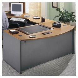 Bush Business Series C Right L-Shape Executive Desk in Natural Cherry