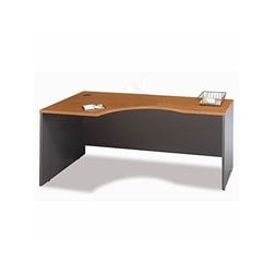 Bush Business Series C Bow Front Wood Computer Desk in Natural Cherry