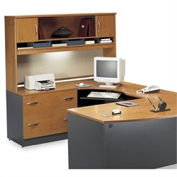 Bush BBF Series C 3-Piece Right-Hand L-Shape Desk with Hutch