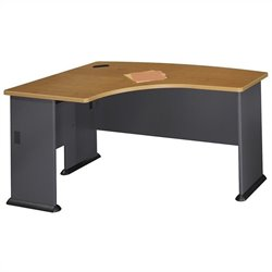 Bush BBF Series A 60W x 44D LH L-Bow Desk in Natural Cherry