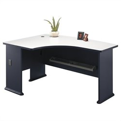 Bush Business Furniture Series A 60W x 44D LH L-Bow Desk in Slate