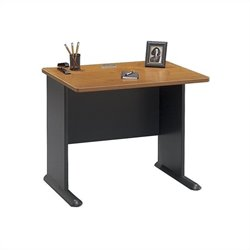 Bush Business Furniture Series A 36W Desk in Natural Cherry