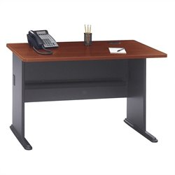 Bush BBF Series A 48W Desk in Hansen Cherry