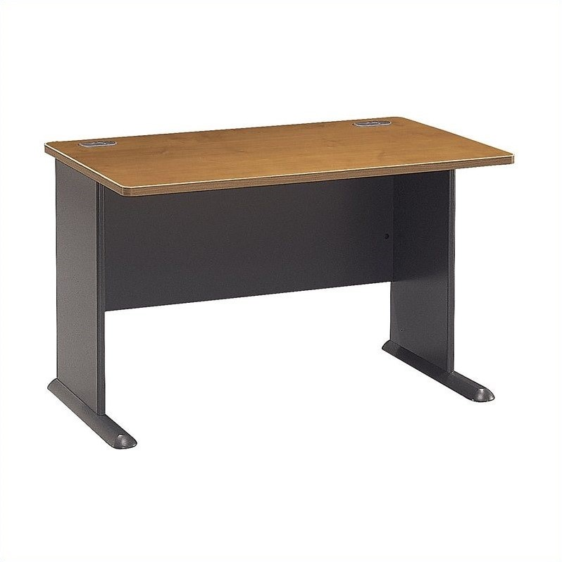 Bush BBF Series A 48W Desk in Natural Cherry