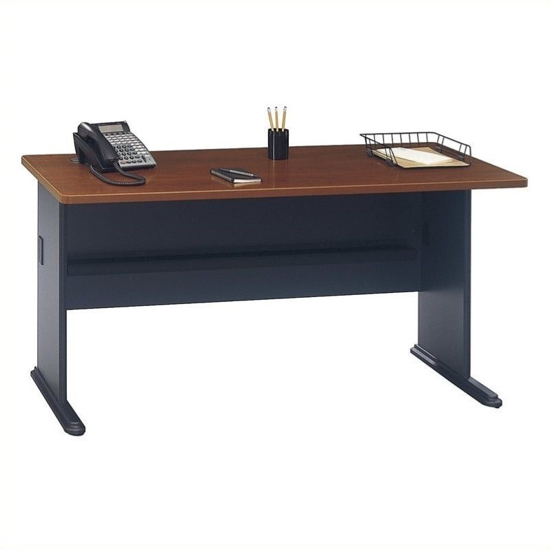 Bush Business Series A 60 inch Desk in Hansen Cherry