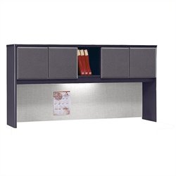 Bush Business Furniture Series A 72W Hutch in Slate
