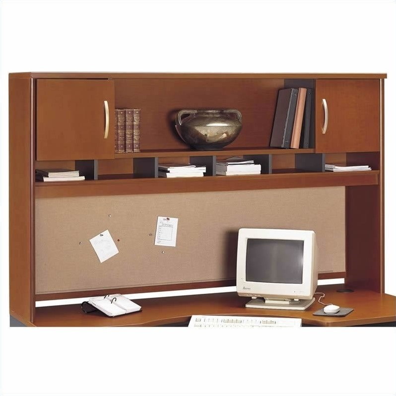 Bush BBF Series C 6-Piece U-Shape Left-Hand Corner Desk in Auburn Maple