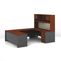 Bush Business Series C Hansen Cherry Executive U-Shaped Desk