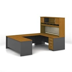 Bush BBF Series C 5-Piece U-Shape Computer Desk in Natural Cherry