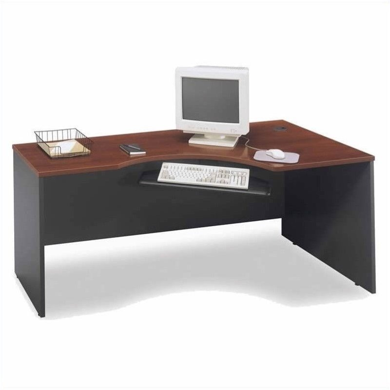 Bush Business Series C 4-Piece L-Shaped Computer Desk in Hansen Cherry